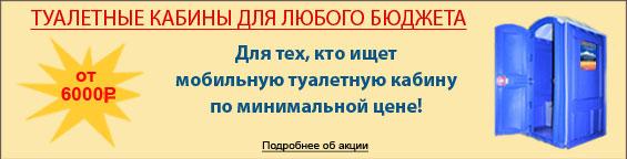 Туалетная кабина за 10000 рублей!